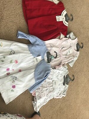 Mothercare Baby Girl dresses x 5 0-3 New with tags