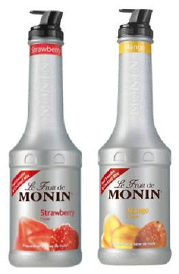 2 x MONIN Puree 1L Smoothie & Cocktail mix - Choose from 12 Flavours