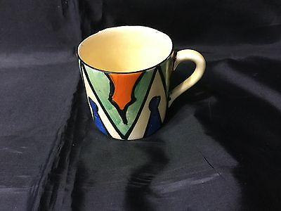 Clarice Cliff Bizarre Extremely Rare Keyhole Coffee Can  1930