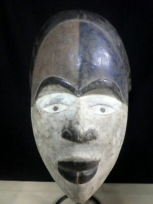 Old Tribal Bakongo Mask D R Congo Africa Fes-Gb1314