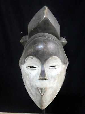 Old Tribal Kwele Mask Gabon Africa Africa Fes-Gb1315
