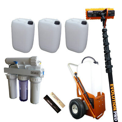 25ltr Window Cleaning Trolley Kit, Mid Range Package (Trolley+Pole+Brush+Filter)
