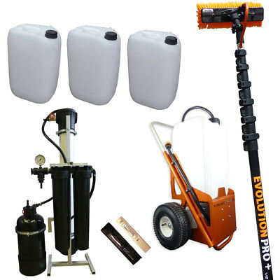 25ltr Window Cleaning Trolley Kit, Advanced Package (Trolley+Pole+Brush+Filter)