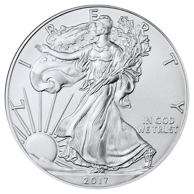 2017 1oz Silver American Eagle, 1 ounce silver bullion coin