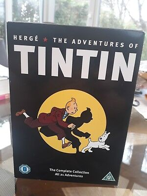 herge - the adventures of tintin dvd - complete collection