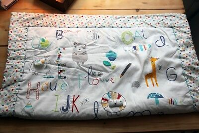Mothercare abc cot bed duvet 100cm x 120cm approx 4 tog