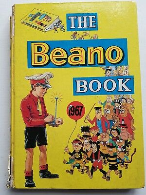 Vintage - 1967 - Beano Annual. Good Condition, Some Slight Spine Damage. Nice