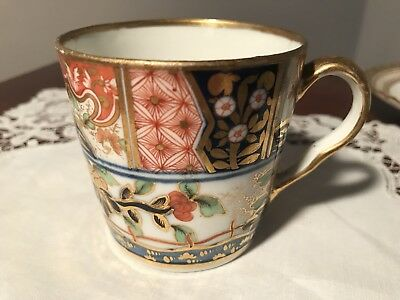 Antique Worcester Chamberlain Coffee Cup 'Japan' Pattern No 310