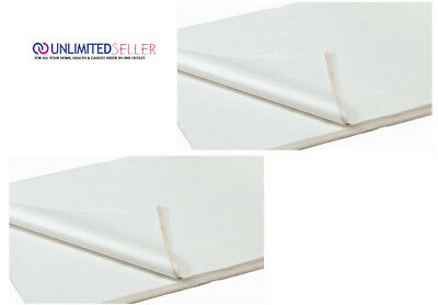 100 SHEETS OF WHITE COLOURED ACID FREE WRAPPING TISSUE PAPER 450x700mm 15GSM