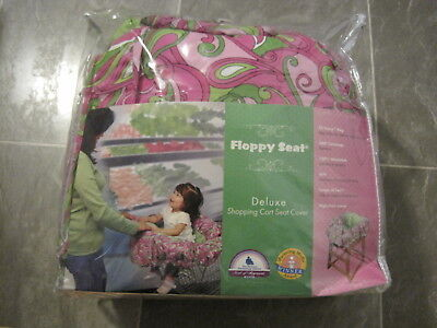 Floppy Seat shopping cart cover High Chair cover pink paisley STORAGE BAG NEW