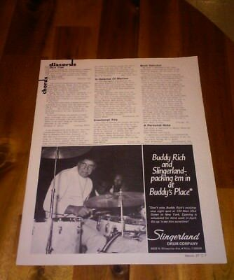 Slingerland 1975 Buddy Rich at Buddy's Place drum print ad