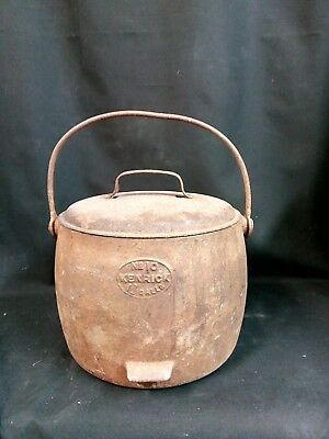 Rare Vintage Romany Gypsy Cast Iron Cooking Pot - 1¾ Gallons Kenrick No 10