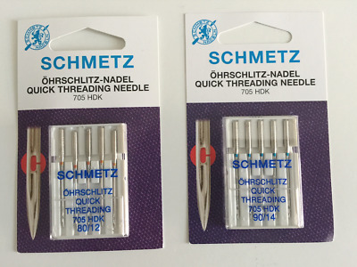 Schmetz Quick Thread Sewing Machine Needles General Purpose Size 80/12 or 90/14