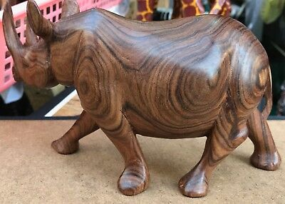 African wood hand made animal carving art