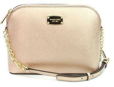 9ba83a5682 Michael Kors Cindy Rose Gold Leather Chain Cross Body Bag Small Handbag RRP  £220