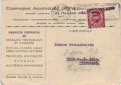 Belgium - Early Air Mail, Antwerp, Belgium to Germany (Air Mail SC) 1932