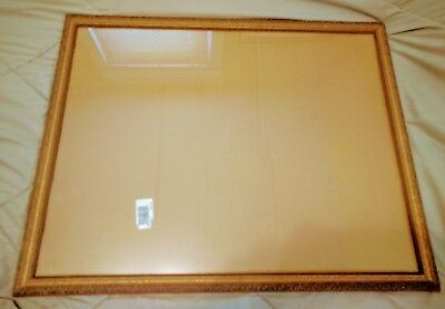 Mid Century Shabby Chic Hand Carved Wood Picture Frame 30x24