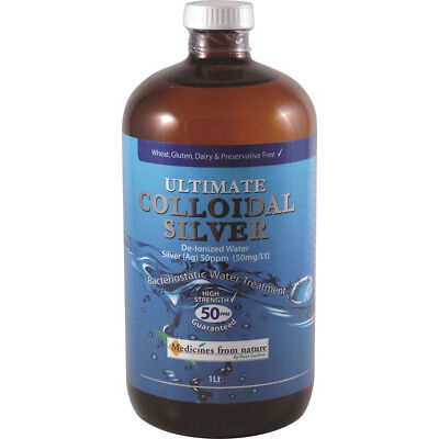Ultimate Colloidal Silver 50ppm 500ml or 1ltr Medicines from Nature Ross Gardner