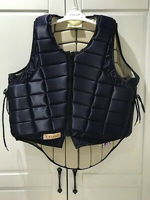 RS2010 Racesafe Body Protector. Adult medium/ Standard Fit, navy.NEVER WORN.