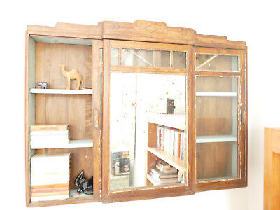 Antique wall Cabinet Wood