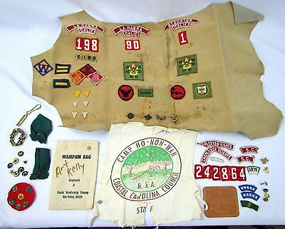 Vtg Lot of Boy Scouts of America BSA Pins Patches Badges SC CA & More! Cub Scout