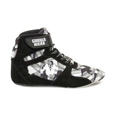 Gorilla Wear Perry High Tops Pro – Black/Gray Camo Bodybuilding Fitness 36 - 47