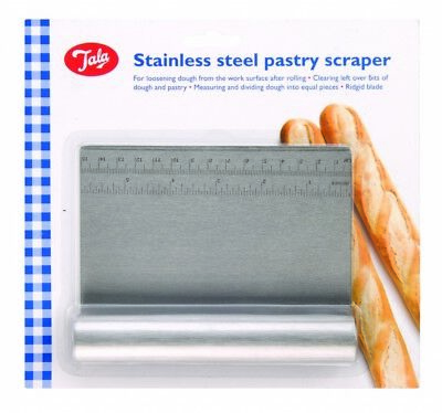 Tala Pastry Dough Cutter Scraper with Measure Stainless Steel Bread Pizza Pies
