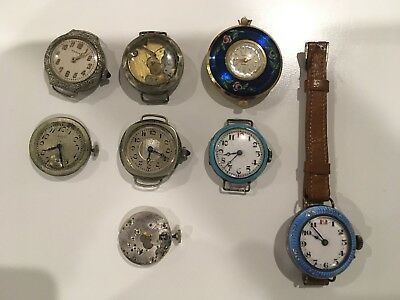 Bulk Lot Of Vintage Silver Watches.