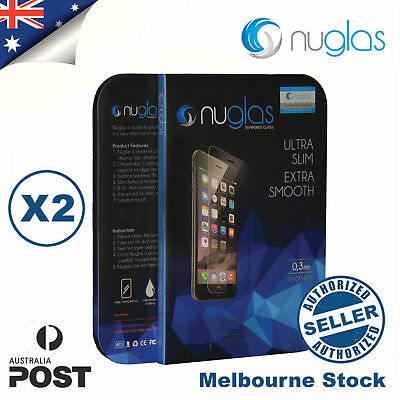 2x Genuine NUGLAS Tempered Glass Screen Protector for iphone 7 Plus 8 Plus