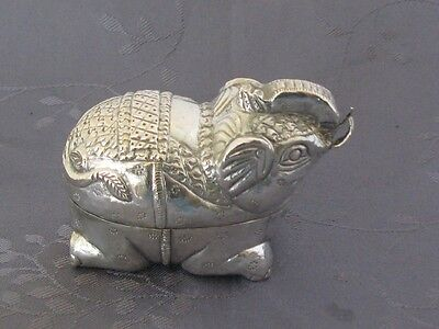 Solid Silver Box Zoomorphic China the South 59 G