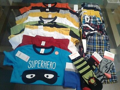 Nwt $358  Rv Gymboree Outlet Boys Size  5T  21 Pcs  Lot Outfits Summer Spring