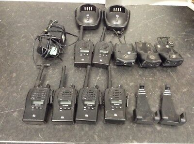 6 x TTI TX1446 and TX1446plus with Holsters and 2 x Charging Stands