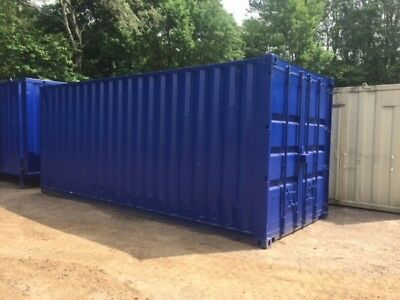 20 ft Long 8 ft Wide Red, Blue, Green or Grey Steel Storage Container Second Han