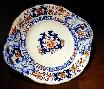 Assiette anglaise faïence Ironstone Minton New Stone 1861