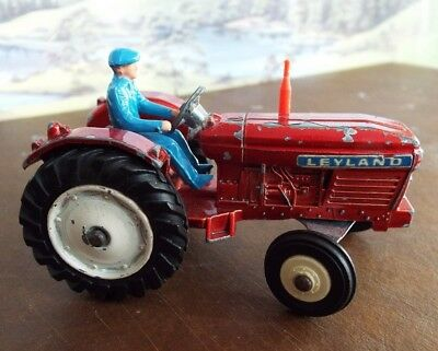 Dinky Toys red metalic Leyland tractor in a play worn condition