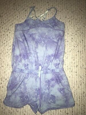 IVIVVA Girls Size 8 purple and blue romper good condition