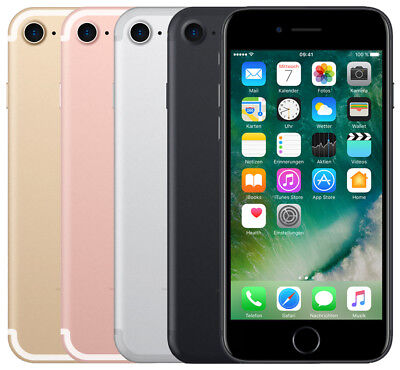 Apple Iphone 7 32Gb, 128Gb, 256Gb Schwarz Silber Rose Gold Jet Black Diamant Rot