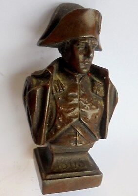 Georgian or Victorian Bronzed Spelter or Hard lead Bust Napoleon. Dated 1805.