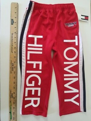Tommy Hilfiger Red Toddler Spellout Pants 90s Vintage 4T Aaliyah