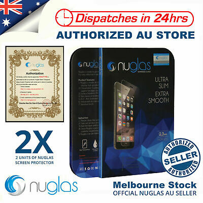 2x NUGLAS Tempered Glass Screen Protector for Apple iPhone X 8 7 6 5 Plus XS Max