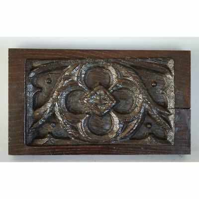 Superb Antique 19th century French Carved Oak Gothic style Architectural Panel