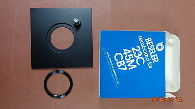 Beseler 23C/45M/CB7 8021 Enlarger Metal Lens Board  with Ring