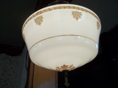 "Large Old 15"" Art Deco Store Room / School House, Flush Mount Light Fixture"
