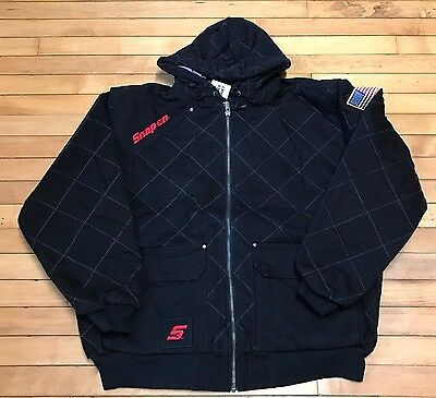 NEW Snap on Tools Men's 2XL Black Quilted Hooded Winter Coat Jacket NWT  XXL