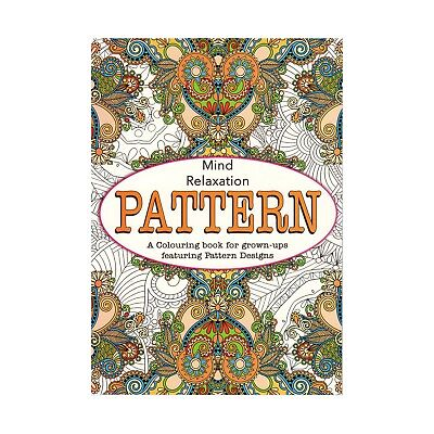 Adults Colouring Book Stress Relief Patterns Colour Therapy Anti Stress Grown up