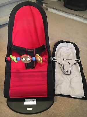 Baby Bjorn Bouncer with toy bar- black / silver grey - excellent condition