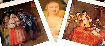 "3 x HIgh Quality Lithographs of Venice, Italy- after Pietro Longhi - 11""x14"""