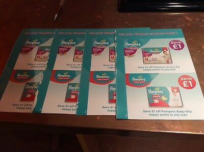 £8 Worth Of Pampers Vouchers Nappy Pants