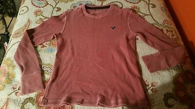 American Eagle Faded Red/Pink Longjohn Long Sleeve Shirt Size M
