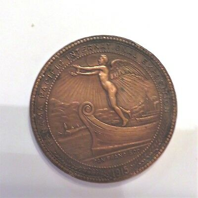 1915 Panama Pacific International Exposition Montana Fund Dollar Medal Token